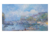Le Pont Marie in Paris Giclee Print by Albert Lebourg