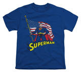 Youth: Superman - American Flag Shirts