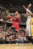 Chicago Bulls v Indiana Pacers - Game Three, Indianapolis, IN - APRIL 21: Derrick Rose and Danny Gr Photographic Print by Ron Hoskins