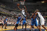 Oklahoma City Thunder v Memphis Grizzlies - Game Six, Memphis, TN - MAY 13: Sam Young, Kendrick Per Photographic Print by Joe Murphy