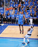 Oklahoma City Thunder v Dallas Mavericks - Game One, Dallas, TX - MAY 17: Russell Westbrook and Jas Photographic Print by Andrew Bernstein