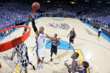 Memphis Grizzlies v Oklahoma City Thunder - Game Seven, Oklahoma City, OK - MAY 15 : Russell Westbr Photographic Print by Layne Murdoch