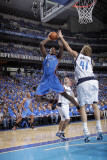 Oklahoma City Thunder v Dallas Mavericks - Game One, Atlanta , TX - MAY 17: Serge Ibaka and Dirk No Photographic Print by Glenn James