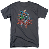 Justic League America - Starburst T-Shirt