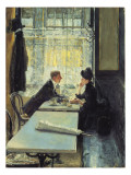 Lovers in a Café Reproduction procédé giclée par Gotthardt Johann Kuehl