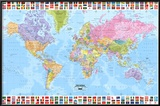 World Map - Political Print