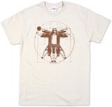 Big Lebowski, de mens van Vitruvius T-Shirts