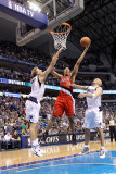 Portland Trail Blazers v Dallas Mavericks - Game One, Dallas, TX - APRIL 16: Andre Miller, Dirk Now Photographic Print by Ronald Martinez