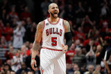 Miami Heat v Chicago Bulls - Game One, Chicago, IL - MAY 15: Carlos Boozer Photographic Print by Gregory Shamus