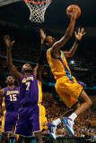 Los Angeles Lakers v New Orleans Hornets - Game Three, New Orleans, LA - APRIL 22: Trevor Ariza and Photographic Print by Chris Graythen