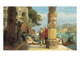 On the Banks of the River Ganges Giclee Print by Francois Halkett