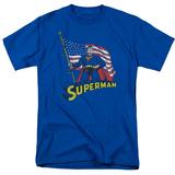 Superman- American Flag Bearer Shirts