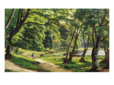 A Walk in the Park Giclee Print by Carsten Henrichsen