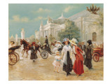 A Rendez-Vous Near the Grand Palais Giclee Print by Carlos Alonso Perez