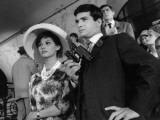 Claudia Cardinale and Jean-Claude Brialy: Les Lions Sont Lâchés, 1961 Photographic Print by Marcel Dole