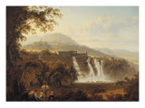 The Villa of Marcenas and the Falls of Anio Giclee Print by Julius Caesar Ibbetson