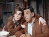 Fernandel and Lilli Palmer: Le Voyage Du Père, 1966 Fotografisk tryk af Marcel Dole