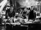 Jean Gabin, Bourvil and Louis De Funès: Mustaa lihaa Pariisissa, 1956 Valokuvavedos tekijänä  Limot