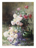 Still Life of Roses Giclee Print by Albert Tibule Furcy de Lavault