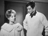 Jean-Paul Belmondo and Dany Robin: La Fran&#231;aise et L&#39;Amour, 1960 Photographic Print by  Limot
