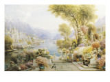 A View on Lake Como Giclee Print by Ebenezer Wake Cook
