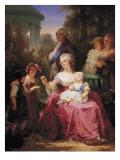 The French Royal Family Reproduction procédé giclée par Charles Louis Muller