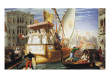 The Brides of Venice Being Taken to the Wedding Giclee Print by John Rogers Herbert