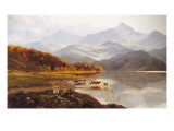 A Lakeside Gathering Giclee Print by Henry John Boddington