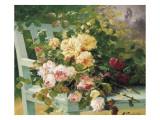 Romantic Roses Giclée-Druck von Eugene Henri Cauchois