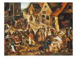 The Seven Acts of Mercy Giclee Print by Pieter Bruegel the Elder