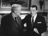 Franck Fernandel and Jean Gabin: L'Âge Ingrat, 1964 Photographic Print by Marcel Dole