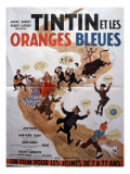 Movie Poster: Tintin et Les Oranges Bleues, 1964 Photographic Print by Marcel Dole