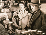 Jean Gabin and Robert Hirsch: Maigret et L&#39;Affaire Saint Fiacre, 1959 Photographic Print by Marcel Dole
