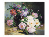 A Still Life of Beautiful Flowers Giclee Print by Eugene Henri Cauchois