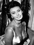 Sophia Loren Fotoprint van Leonia Celli
