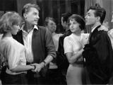 Françoise Arnoul, Jean-Paul Vignon, Georges Rivière and Dany Saval: Asphalte, 1959 Photographic Print by Marcel Dole