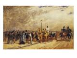 Rendez-Vous in the Bois De Boulogne Giclee Print by Auguste de Molin