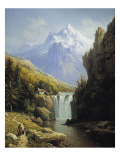 View of the Johannisberg Giclee Print by Charles Kuwasseg