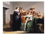 A Musical Gathering Giclee Print by Pieter Codde
