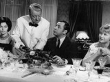 Jean Gabin, Philippe Noiret, Liselotte Pulver and Berthe Granval: Monsieur, 1964 Photographic Print by Marcel Dole