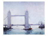 Tower Bridge Giclee Print by Jef de Pauw