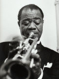 Louis Armstrong, November 17, 1955 Photographic Print by Luc Fournol
