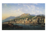 Messina Harbour Giclee Print by Charles Kuwasseg