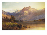 A View of Benmore at Sunset Giclee Print by Sr ., Alfred De Breanski