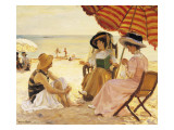 The Beach Giclee Print by Alfred Victor Fournier