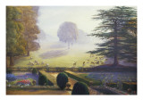 The Garden at Escrick Hall Giclee Print by Constance Wenlock