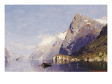 The Ice-Blue Fjord Giclee Print by Georg Anton Rassmussen