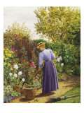 A Day in the Garden Giclee Print by Marian Chase