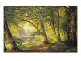 A Forest Glade Giclee Print by Carl Frederic Aagaard