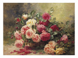 Roses Giclee Print by Albert Tibule Furcy de Lavault